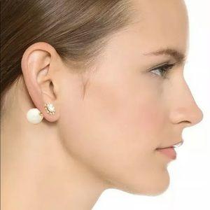 Kate Spade Reversible Crystal Pearl Back Earrings